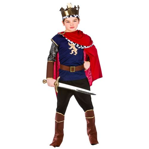 Childrens Boys Deluxe Medieval King Costume for Middle Dark Ages Fancy Dress